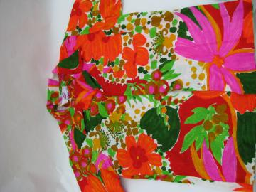 Retro 60s vintage Hawaiian tropical print shirt, Honolulu label