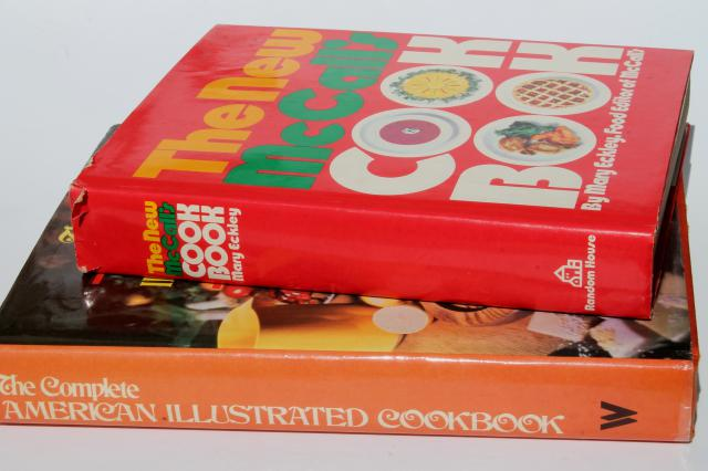 retro 70s 80s vintage cookbooks, New McCall's Cook Book, American Illustrated Cookbook