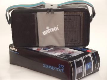 Retro 80s portable speakers for cassette player Unitech ST-2 Sound Tote