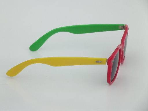 Retro 80s vintage plastic M&Ms sunglasses in candy package case