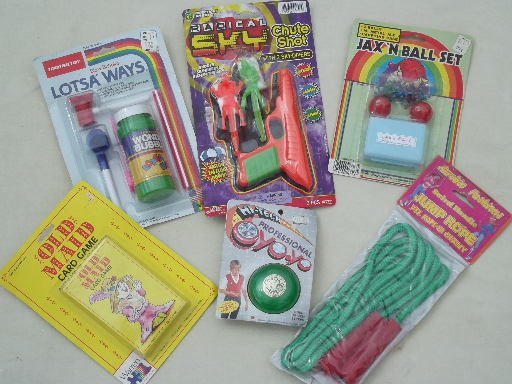 retro 80s vintage toy lot party games favors cheap toys on original
