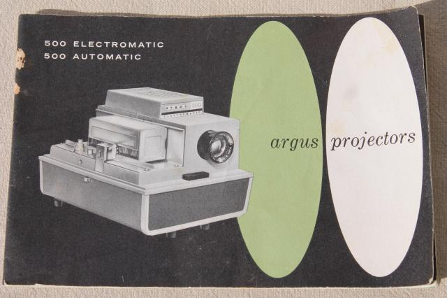 retro Argus 500 automatic slide projector, mid-century vintage projector for 35mm slides