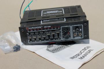 Retro Alphasonik AEQ-720B graphical equalizer pre amp / power amp, automotive audio equipment