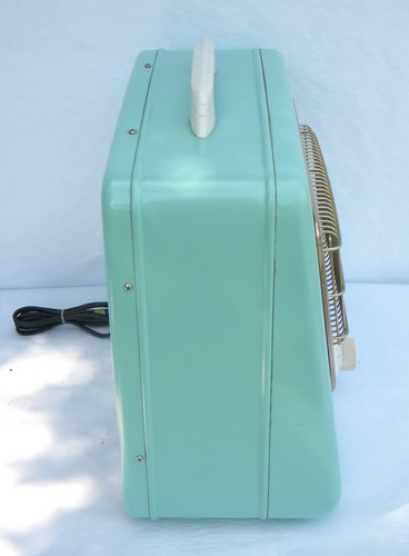 Retro Aqua Turquoise Arvin Electric Space Heater Early 1950s Vintage