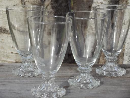 Retro Boopie Glass Water Glasses Set Vintage Anchor
