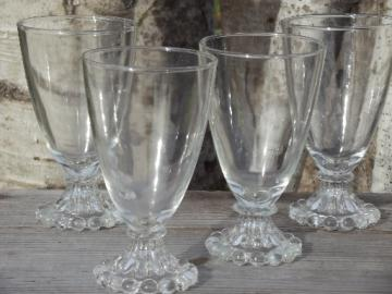 Retro boopie glass water glasses set, vintage Anchor Hocking glassware