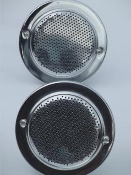Retro car speakers with chrome grills, Vintage speakers for your hotrod or RV