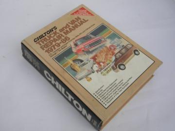 Retro Chilton's Truck & Van repair manual 1979-1986