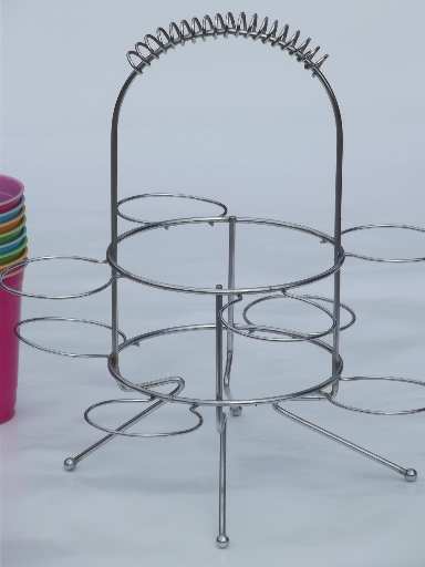 What Eyeglass Frames Does Sams Club Carry : Retro chrome carrier rack, party drinking glasses holder ...