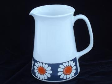 Retro Daisy ceramic pitcher Turi design Norway, Lotte Figgjo / Flint