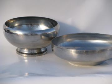 Retro Danish modern vintage Denmark stainless steel and Oneida bowls, mod!
