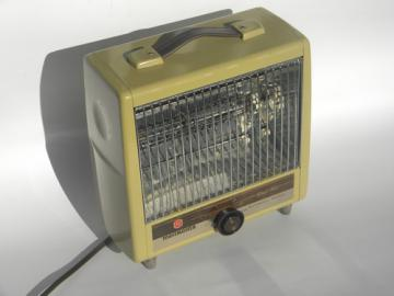Retro electric space heater, 60s 70s vintage Toastmaster heater