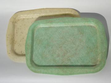 Retro fiberglass cocktail trays, 50s 60s vintage, mad men mod!