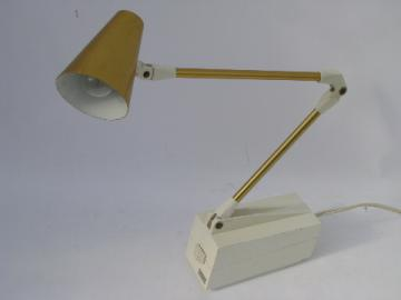 Retro gold Princess Tensor reading or desk light, 60s - 70s vintage