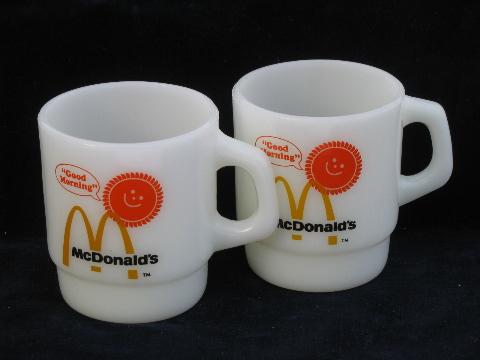 Retro Good Morning Mcdonald S Coffee Mugs Vintage Fire