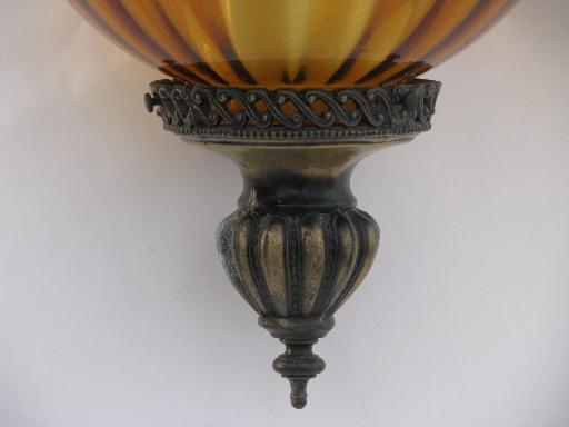 S Amber Glass Globe Lampshade
