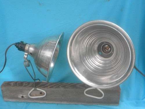 Retro Industrial Work Lights W Aluminum Helmet Shades For