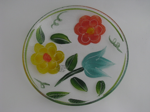 Hand Painted Serving Plate Bright Modern