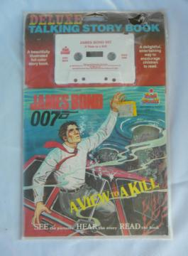 Retro James Bond A View to A Kill audio cassette Talking Story Book