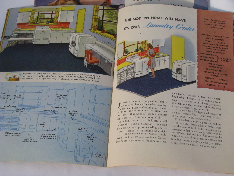 Retro Kitchens, Vintage 1940s Kitchen Design Book Appliance Catalogs