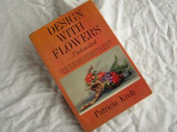 Retro mid century flower designs, arranging & floral arrangements