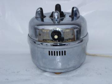 Retro mid-century vintage chrome Hamilton Beach electric blender base