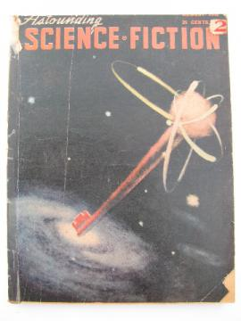 Retro pulp vintage sci-fi stories, Astounding Science Fiction, A.E. van Vogt