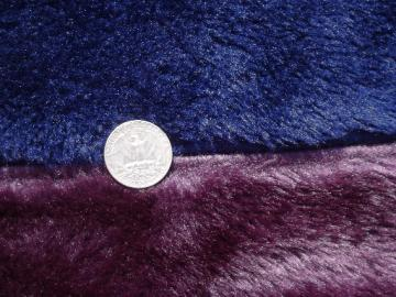 Retro shag fake fur bedspread, 70s vintage furry fabric throw or rug