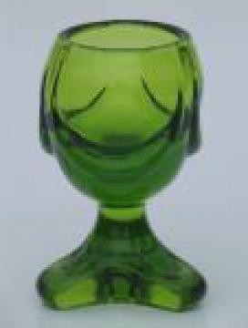 Retro Viking epic line lime green glass cigarette lighter base