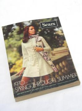 Retro vintage 1970 Sears Spring/Summer catalog w/fabric prints etc