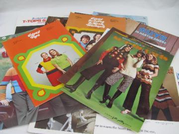 Retro vintage 70s hippie crochet for guys & girls, lot of 18 books / leaflets
