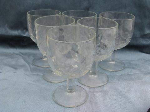 Vintage Water Goblets 95