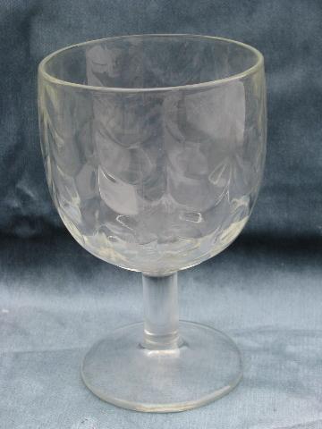 Retro Vintage Beer Glasses Or Big Water Goblets Mod Dots