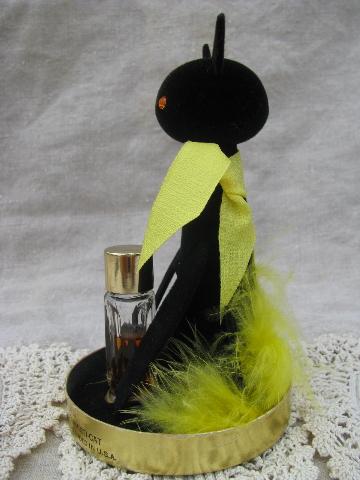 Retro Vintage Black Cat Max Factor Hypnotique Sophisticat Perfume