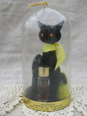 Retro Vintage Black Cat Max Factor Hypnotique Sophisticat