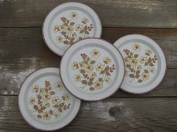 Retro vintage Cultura Japan stoneware, Lunch Mates plates autumn flowers