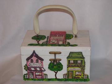 Retro vintage Glorybee box bag purse, Walt Disney Contemporary Woman label