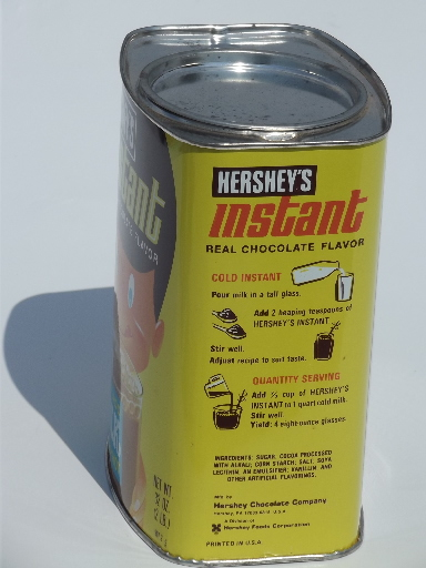 Retro Vintage Hershey S Instant Chocolate Milk Drink Tin