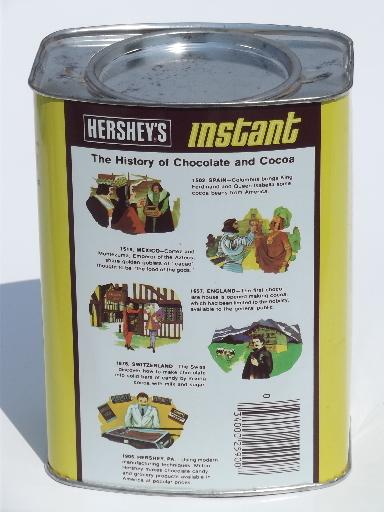 Retro Vintage Hershey S Instant Chocolate Milk Drink Tin Top Container