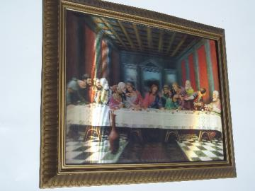Retro vintage lenticular 'art print' op-art picture, The Last Supper