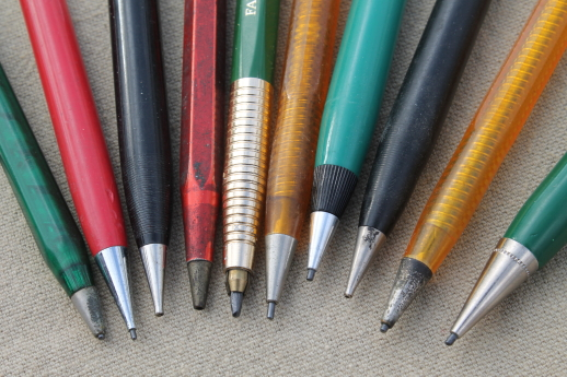 retro vintage mechanical pencils lot of mechanical