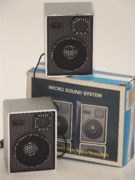 Retro vintage portable speakers for cassette tape player,radio or mp3