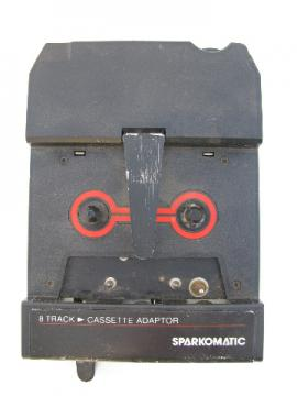 Retro vintage Sparkomatic 8-track cassette tape adaptor