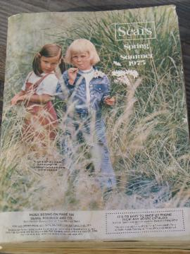 Retro vintage Spring / Summer 1975 Sears big book catalog