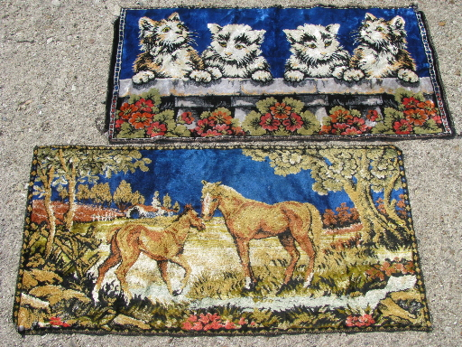 Retro Vintage Wall Hanging Tapestry Rugs Horses And