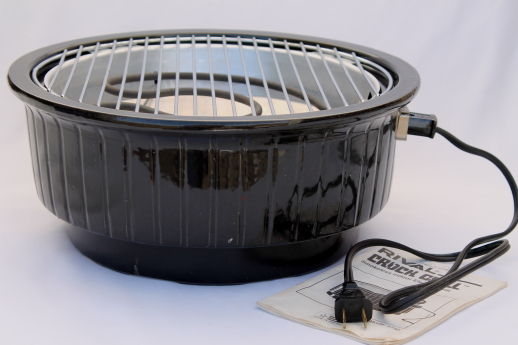 Smokeless Indoor Electric Grills ~ Rival crock grill model w instructions manual
