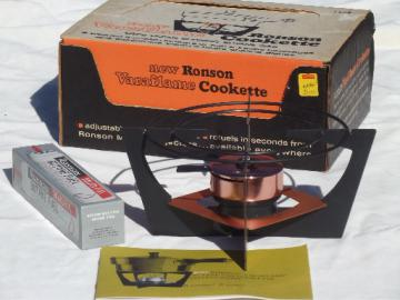 Ronson Varaflame Cookette, butane   chafing dish warming stand, mint in box