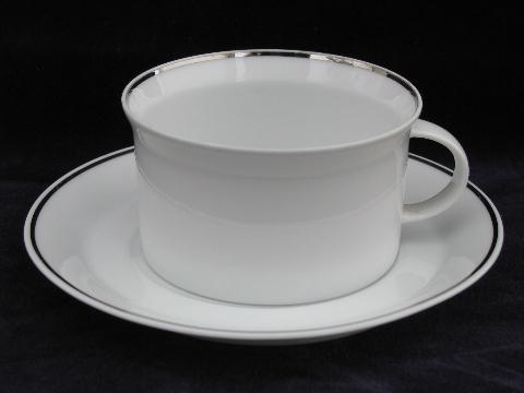 Rosenthal platinum band china coffee pot set, cups & saucers