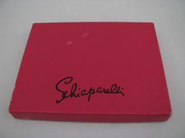 Schiaparelli vintage shocking pink jewelry gift box