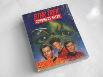 Sealed Star Trek Judgment Rites w/cinematic expansion pack early PC game